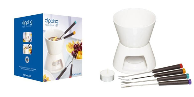 Kitchen Craft Chocolate Fondue Set with Four Forks